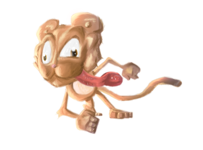 Jumping Monkey Realistic_Cartoon